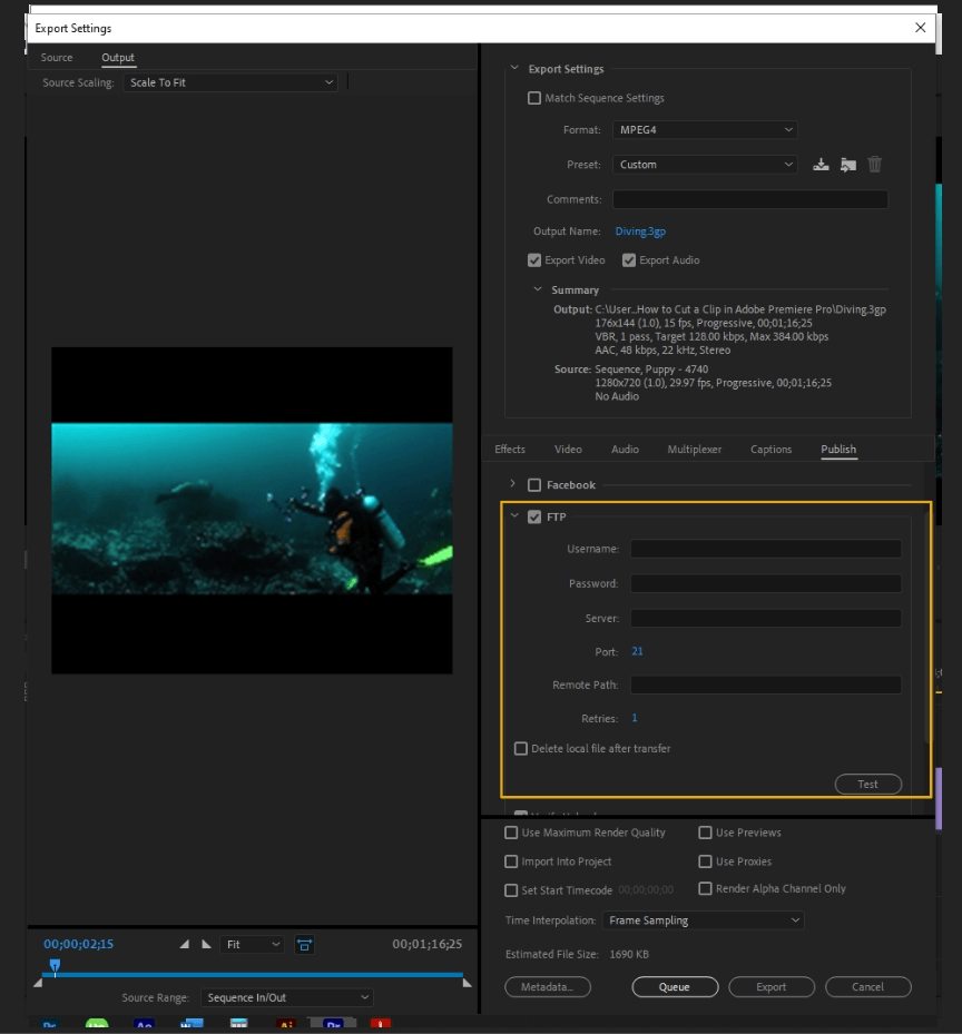 How to Export Adobe Premiere Pro File to mp4 Format 69