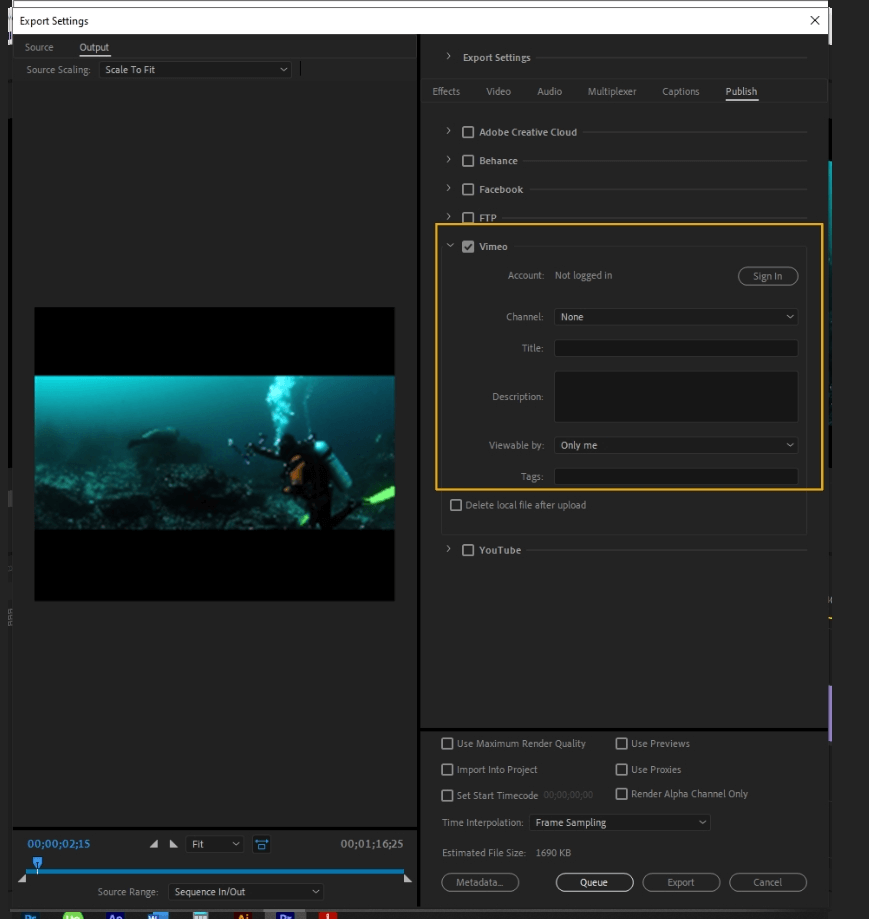 How to Export Adobe Premiere Pro File to mp4 Format 70