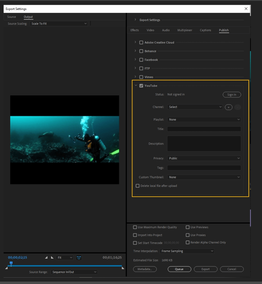 How to Export Adobe Premiere Pro File to mp4 Format 71