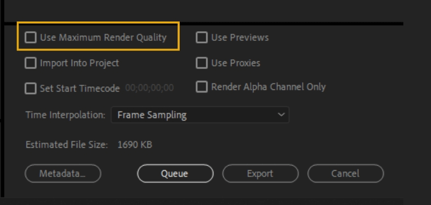 How to Export Adobe Premiere Pro File to mp4 Format 73