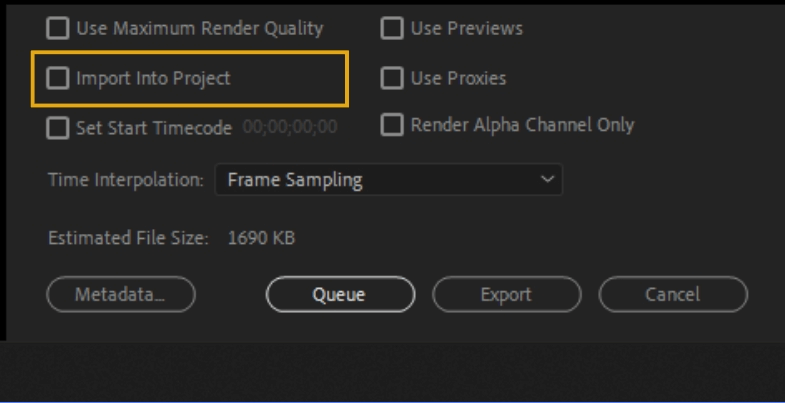 How to Export Adobe Premiere Pro File to mp4 Format 74