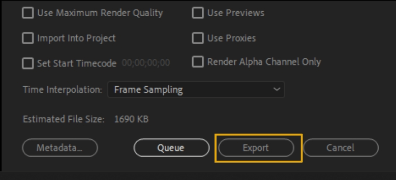 How to Export Adobe Premiere Pro File to mp4 Format 83