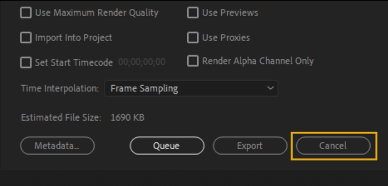 How to Export Adobe Premiere Pro File to mp4 Format 84