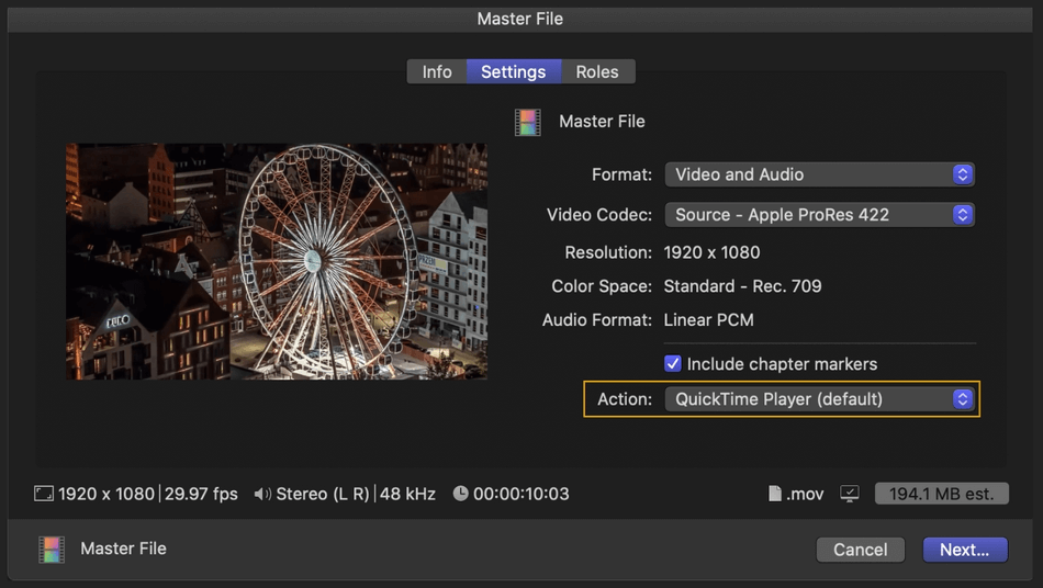 How to Export on Final Cut Pro 11