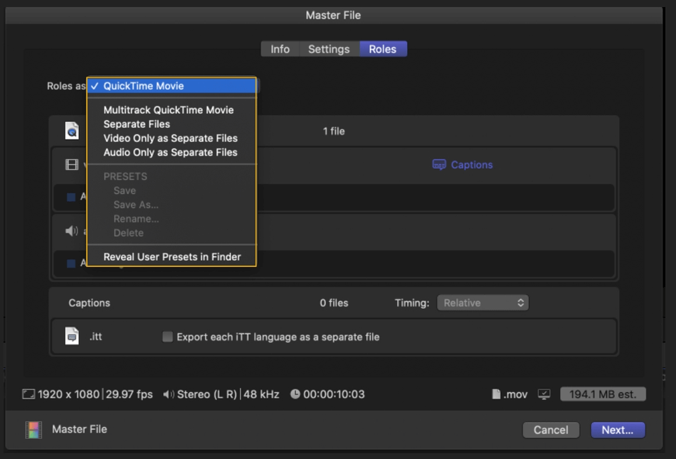 How to Export on Final Cut Pro 13