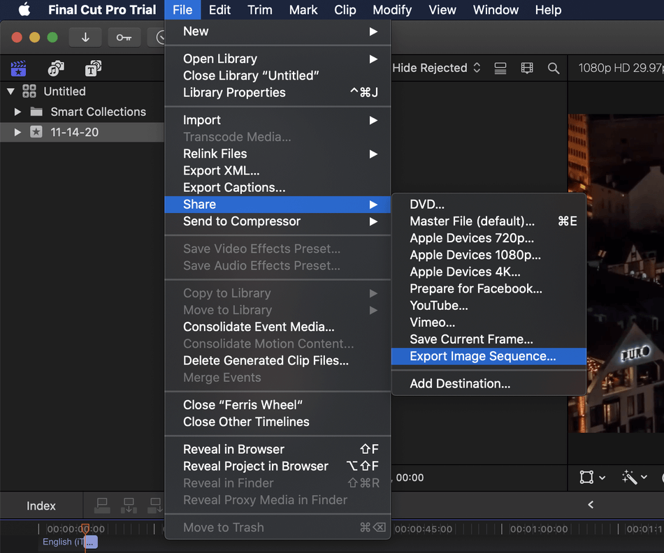 How to Export on Final Cut Pro 23