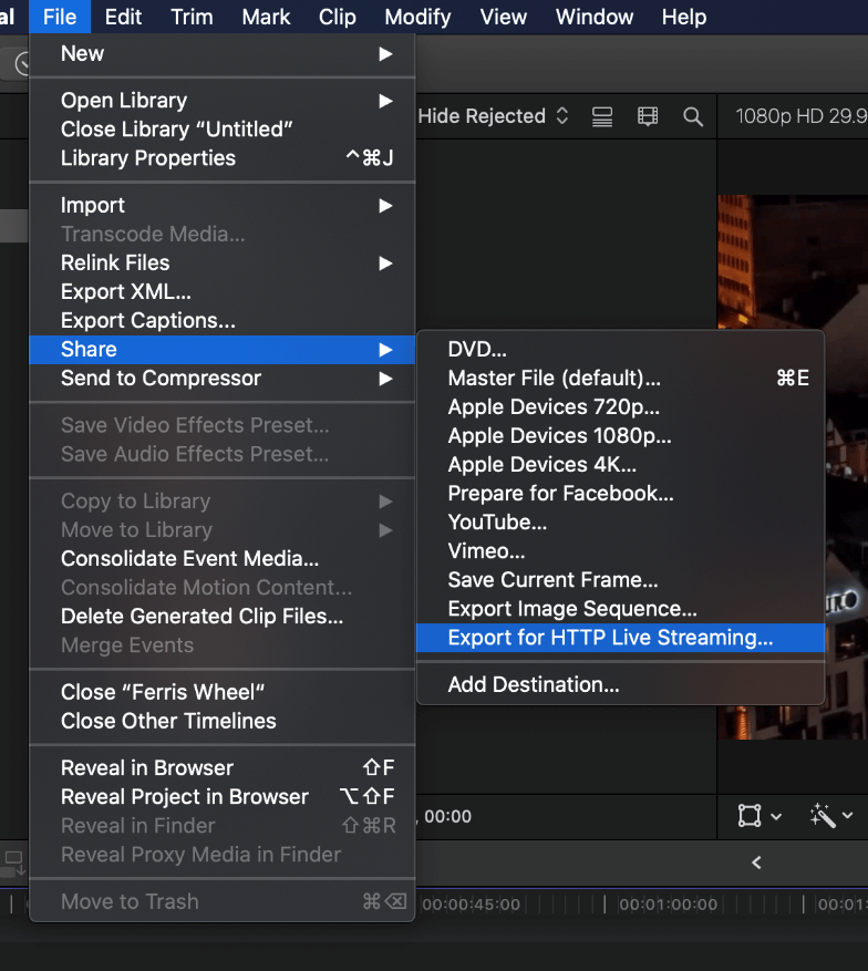 How to Export on Final Cut Pro 26