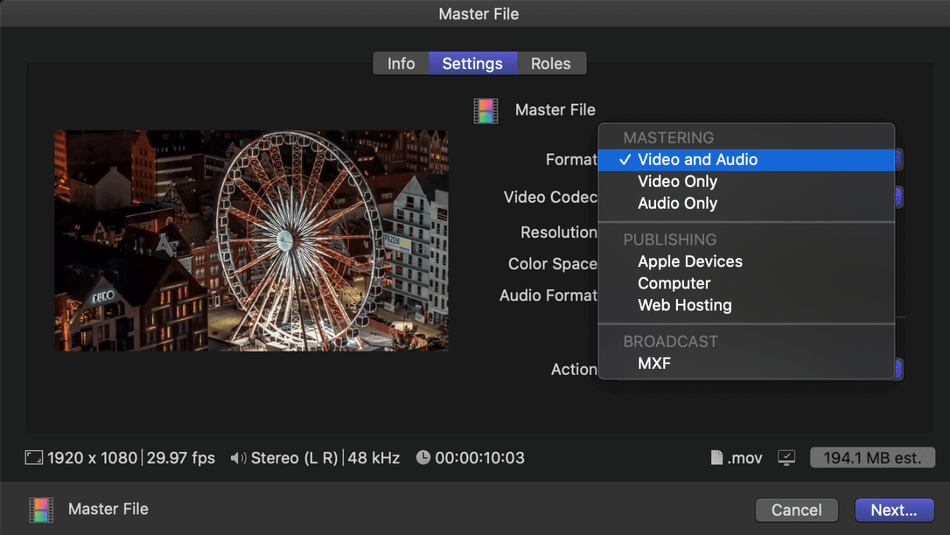 How To Export On Final Cut Pro W Screenshots
