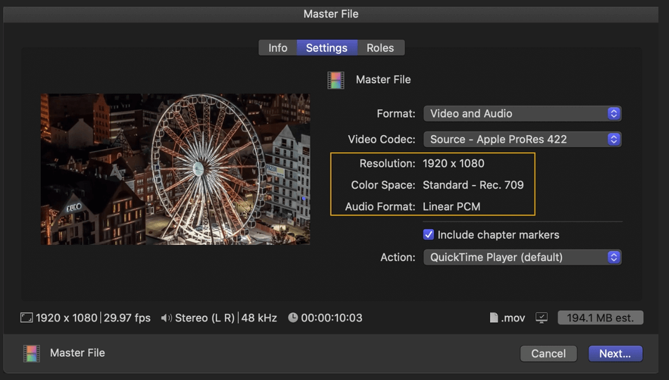 How to Export on Final Cut Pro 9
