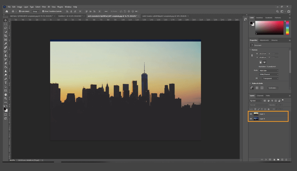 How to Flip an Image in Photoshop 10