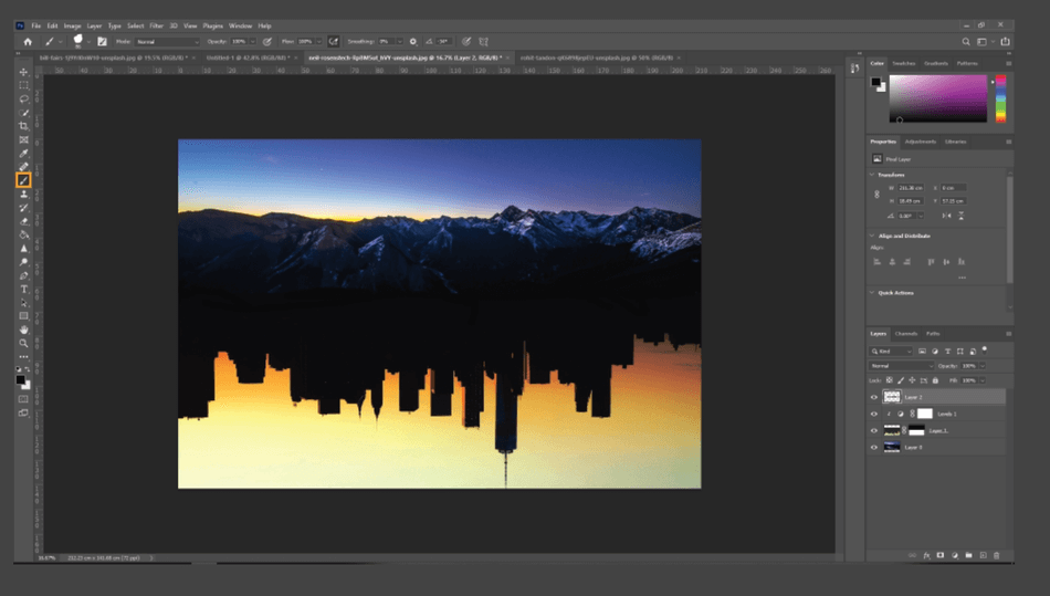 How to Flip an Image in Photoshop 21