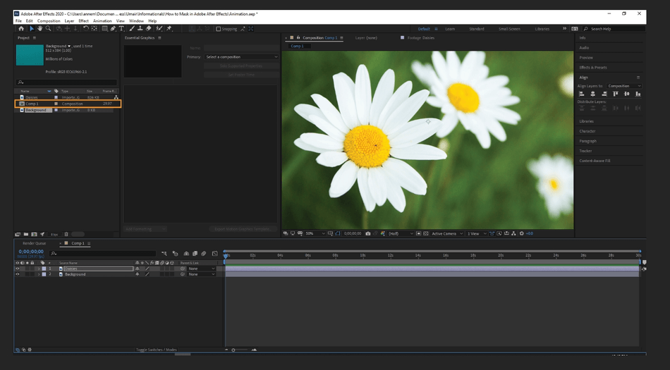 How to Mask in Adobe After Effects 1