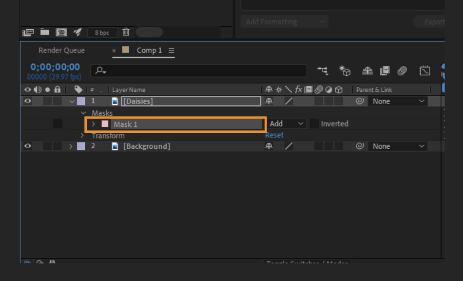 How to Mask in Adobe After Effects 17