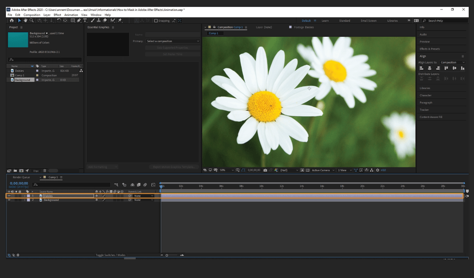 How to Mask in Adobe After Effects 2