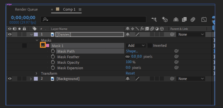 How to Mask in Adobe After Effects 20