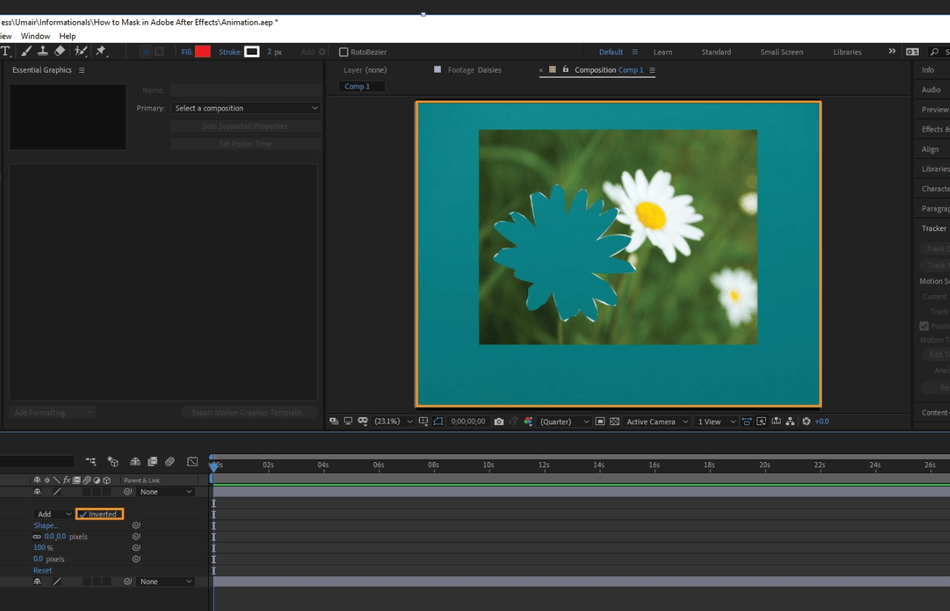 How to Mask in Adobe After Effects 22