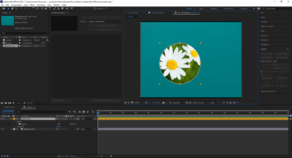 How to Mask in Adobe After Effects 32