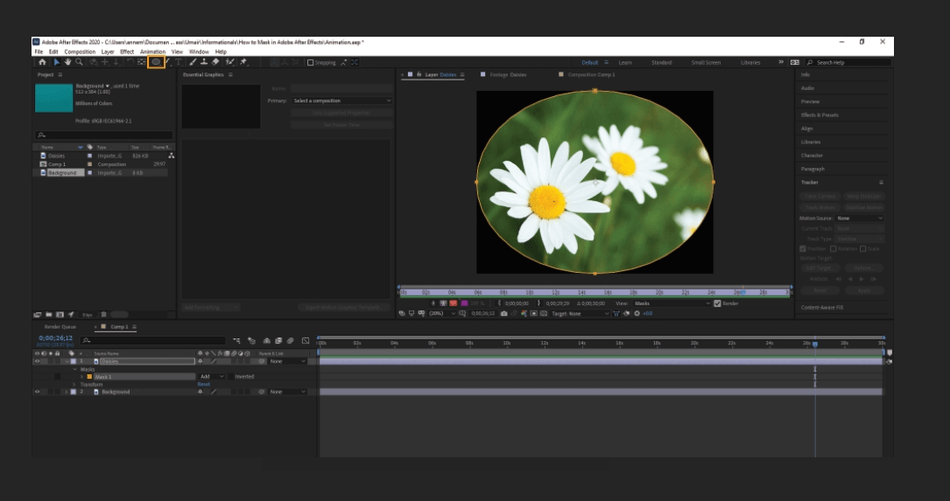 How to Mask in Adobe After Effects 6