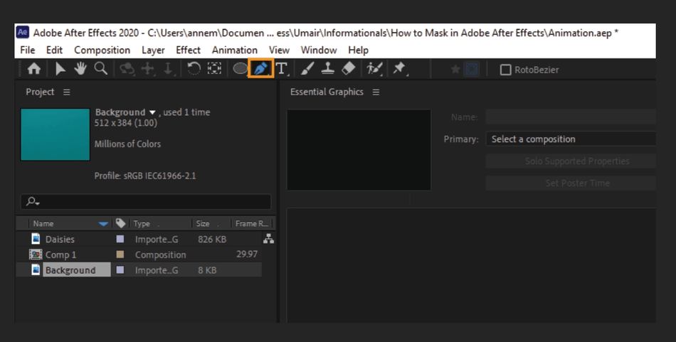 How to Mask in Adobe After Effects 8