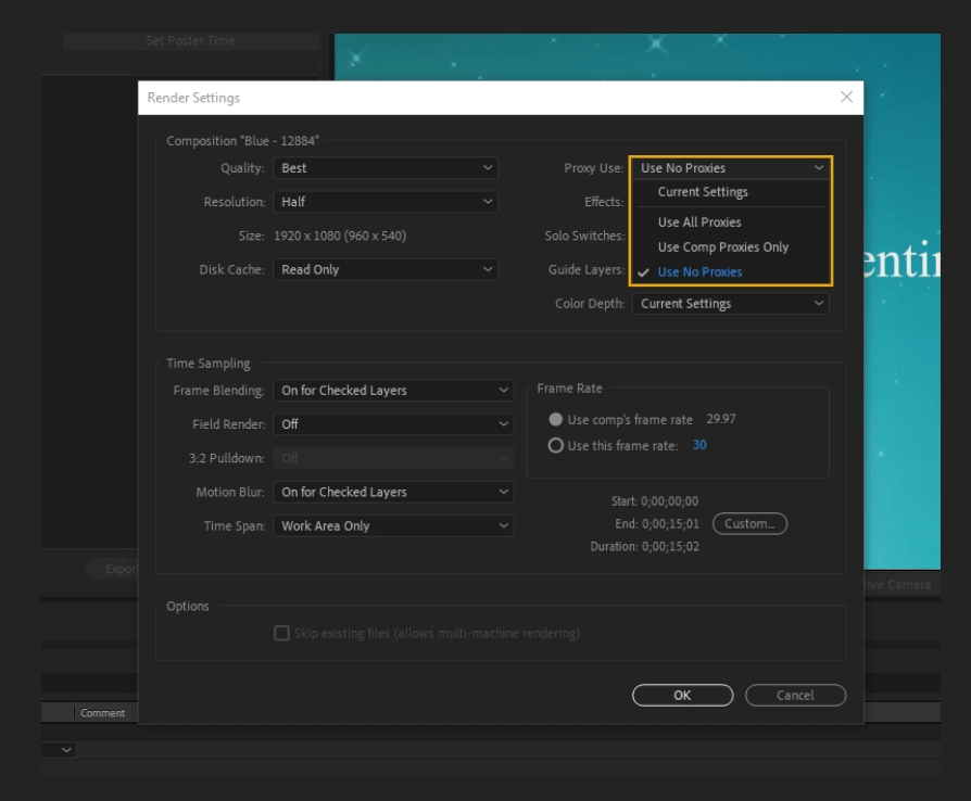 How to Render Export in Adobe After Effects 11