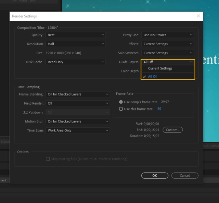 How to Render Export in Adobe After Effects 14