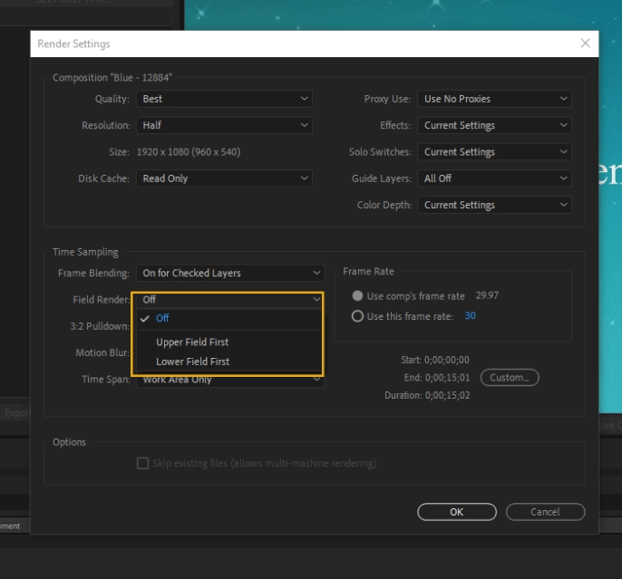 How to Render Export in Adobe After Effects 18