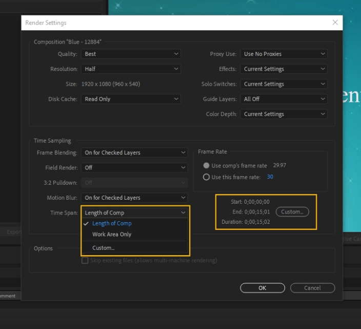 How to Render Export in Adobe After Effects 21