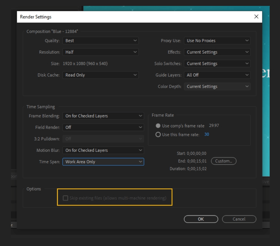 How to Render Export in Adobe After Effects 23