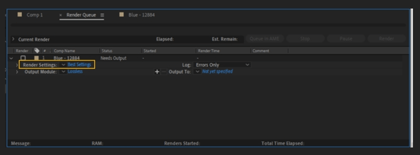 How to Render Export in Adobe After Effects 4