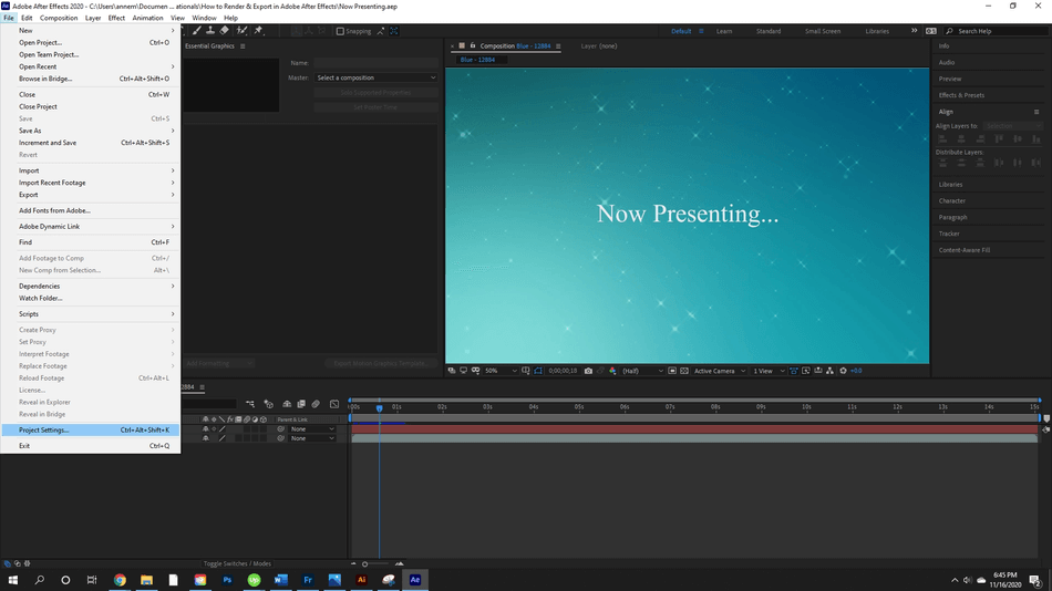 How to Render Export in Adobe After Effects 45