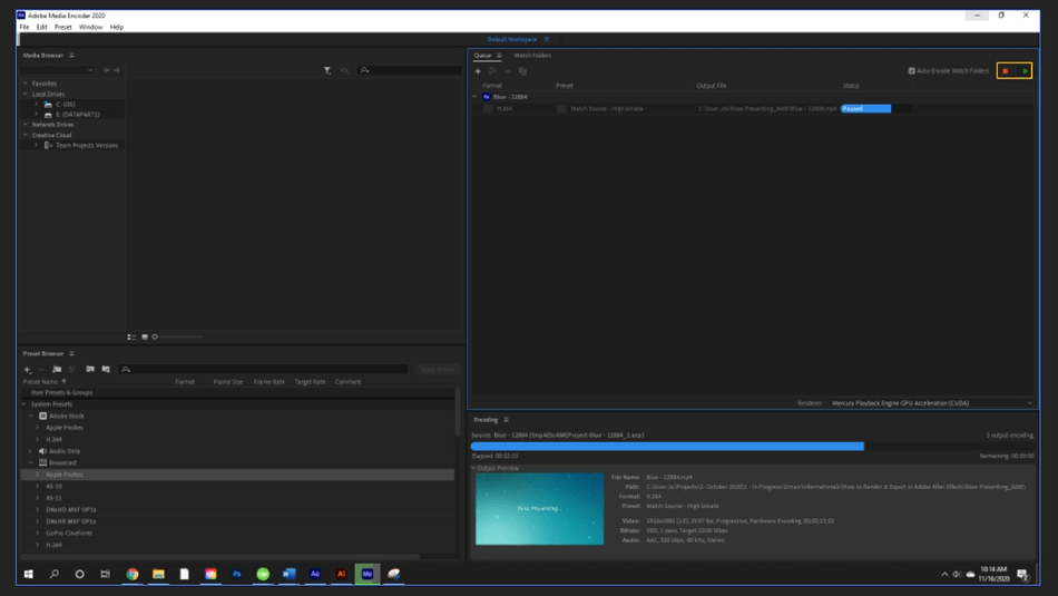 How to Render Export in Adobe After Effects 64