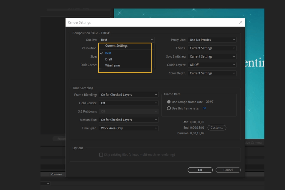 How to Render Export in Adobe After Effects 7
