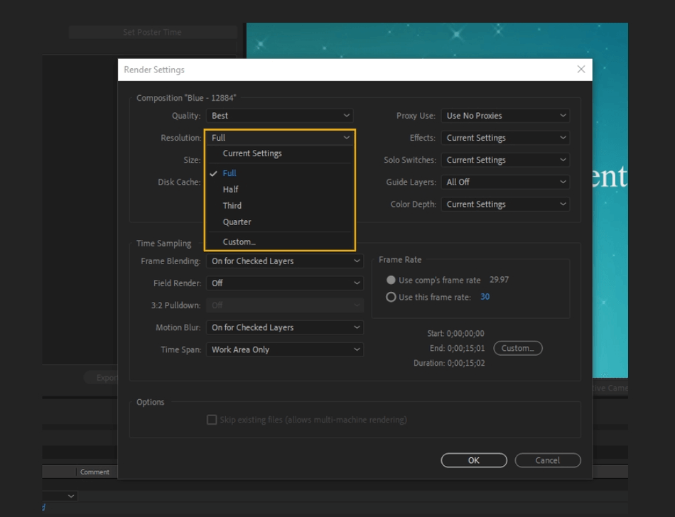 How to Render Export in Adobe After Effects 8