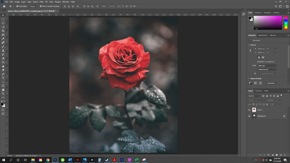 How to Resize a Layer in Photoshop 1