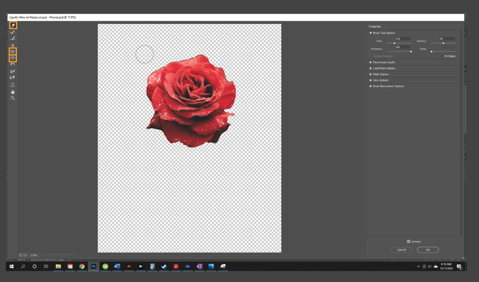 How to Resize a Layer in Photoshop 12