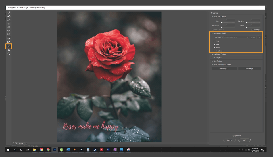 How to Resize a Layer in Photoshop 23