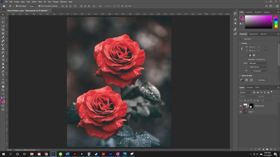 How to Resize a Layer in Photoshop 54
