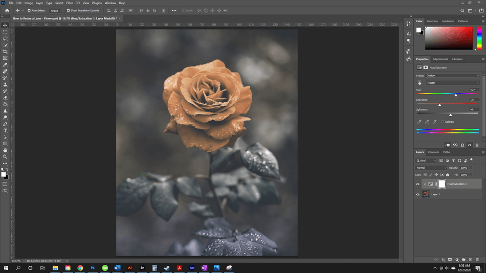 How to Resize a Layer in Photoshop 60