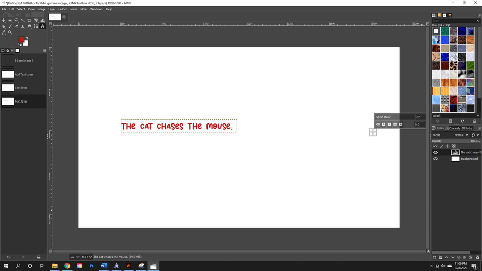How to add fonts to GIMP 6