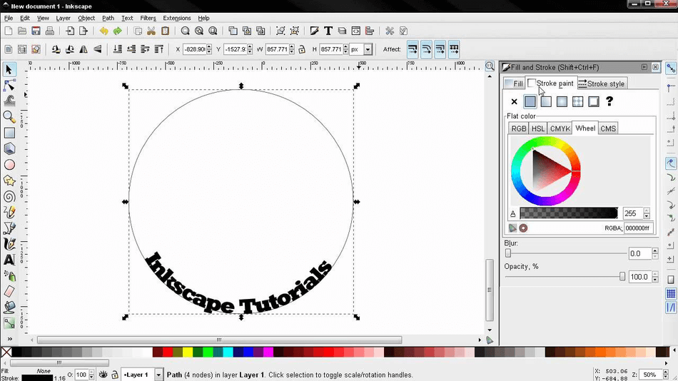 Inkscape color