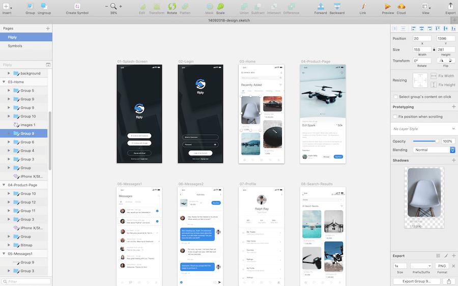 Sketch interface