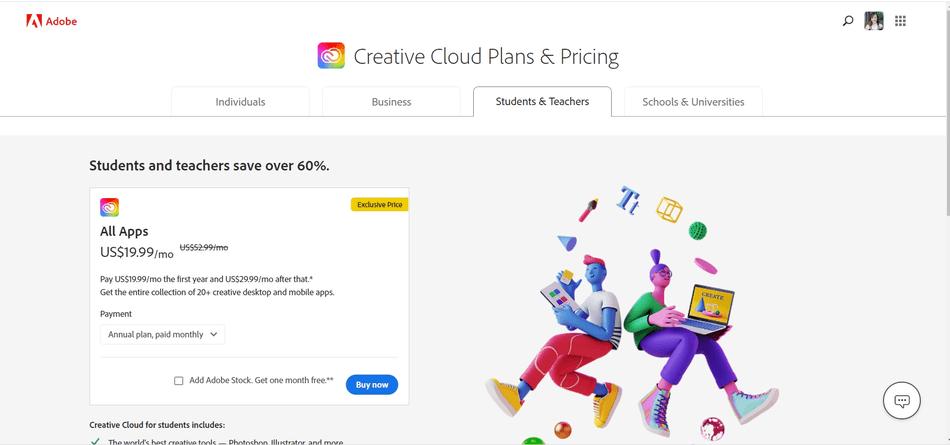 adobe photoshop creative cloud plan
