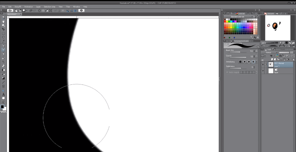 ClipStudioPaintchecking on pixels