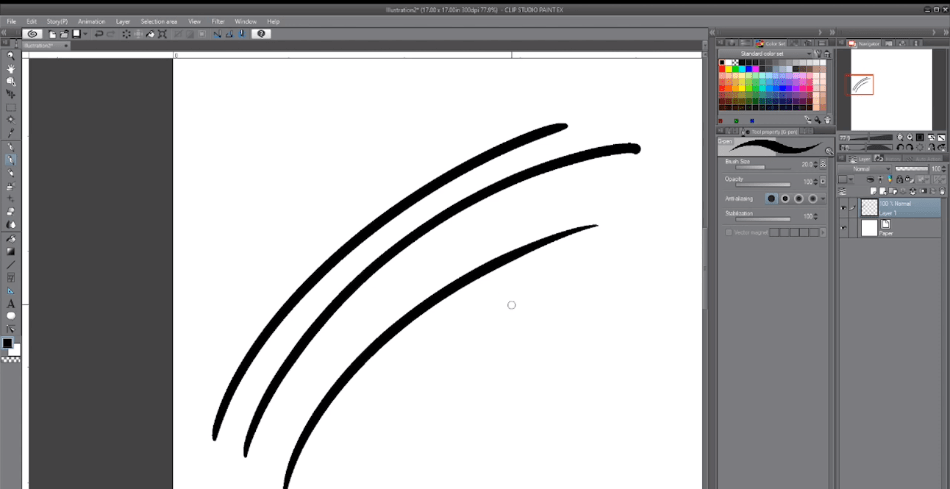 ClipStudioPaintdraw an object