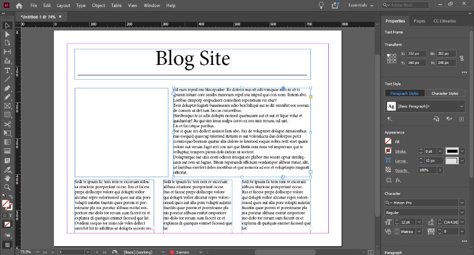 In Design blog