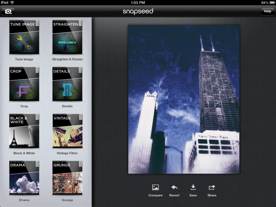 Snapseed saving image