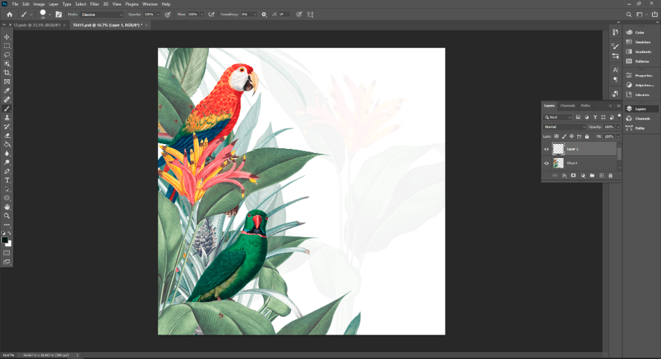adobe photoshop pic on new layer