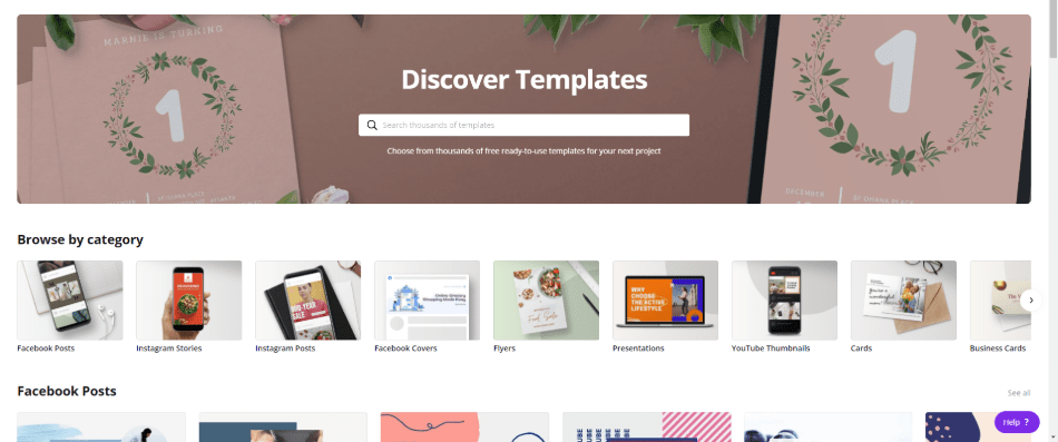 canva discover template