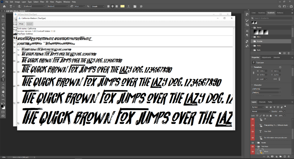 freepik editable text layer on photoshop