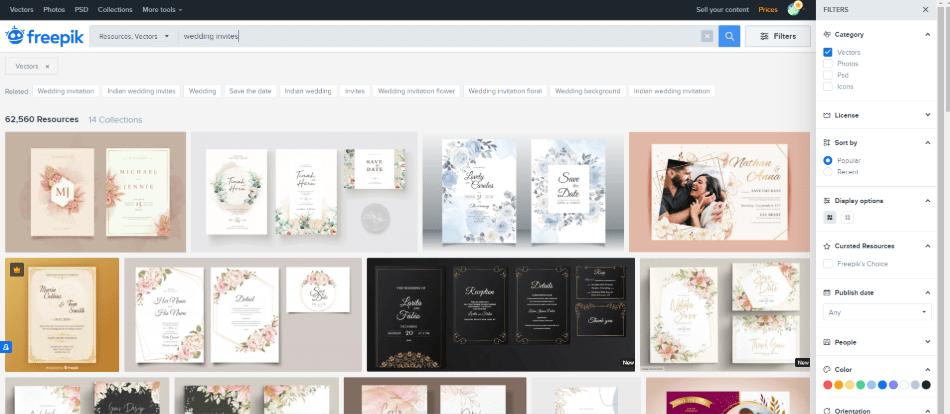 freepik template page